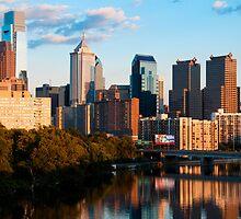 Philadelphia Skyline at Sunset by Eric Tsai