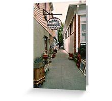 Hidden Treasures on Wall Street, Ocean Grove NJ Greeting Card