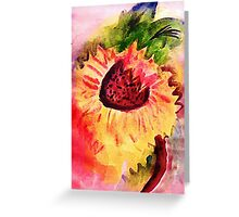 The loose style sunflower, watercolor Greeting Card