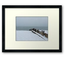 Bognor Regis in the snow! Framed Print