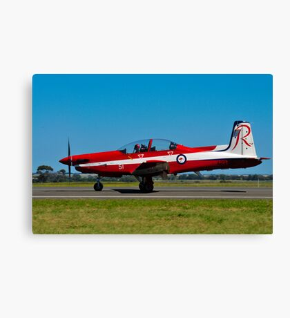 PC-9/A, A23-051, The Roulettes, RAAF East Sale Canvas Print