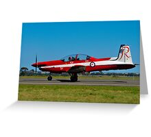 PC-9/A, A23-051, The Roulettes, RAAF East Sale Greeting Card