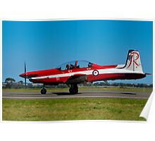 PC-9/A, A23-051, The Roulettes, RAAF East Sale Poster