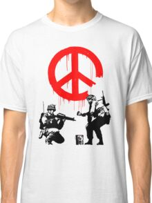 Banksy - Soldiers Painting Peace (CND Soldiers) Classic T-Shirt