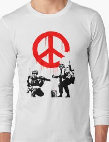 Banksy - Soldiers Painting Peace (CND Soldiers) Long Sleeve T-Shirt