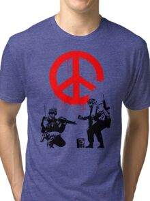Banksy - Soldiers Painting Peace (CND Soldiers) Tri-blend T-Shirt