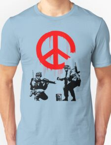 Banksy - Soldiers Painting Peace (CND Soldiers) T-Shirt