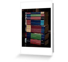 HP Books Greeting Card