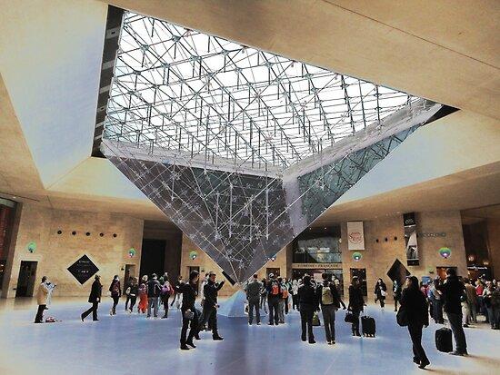 Hanging Pyramid, Louvre, Paris, France 2012 by muz2142