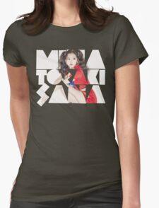 TWICE 'Minatozaki Sana' Typography Womens Fitted T-Shirt