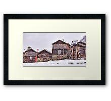 The art of snow Framed Print