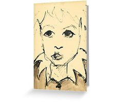 Little Girl (Inspired by Picasso) Greeting Card
