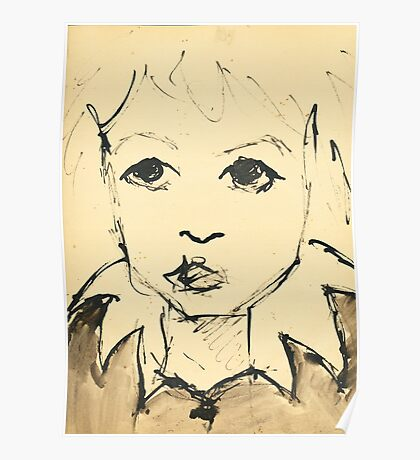 Little Girl (Inspired by Picasso) Poster