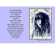Poetry in Art - A Single Tear Photographic Print
