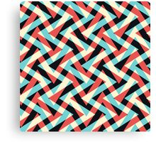 Crazy Retro ZigZag Canvas Print