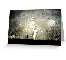 One Moonlit Night Greeting Card