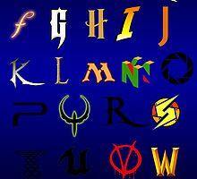 The alphabet of Geekdom by Nana Leonti