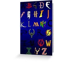 The alphabet of Geekdom Greeting Card