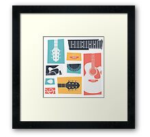 Guitar Collage Framed Print