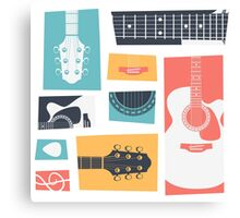 Guitar Collage Canvas Print