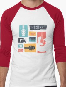 Guitar Collage Men's Baseball ¾ T-Shirt