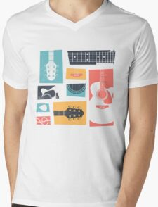 Guitar Collage Mens V-Neck T-Shirt