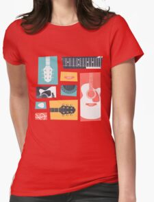 Guitar Collage Womens Fitted T-Shirt