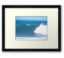 The harmony of the waves Framed Print