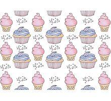 Cupcakes and Ice cream <3 Photographic Print