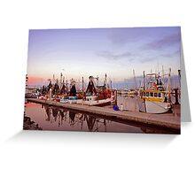 Dawn at Scarborough Boat Harbour. Queensland, Australia Greeting Card