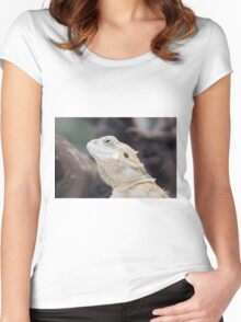 iguana in the jungla Women's Fitted Scoop T-Shirt