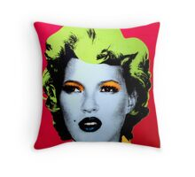 Banksy - Kate Moss Throw Pillow