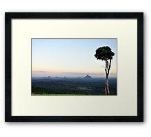 Glasshouse Mountains Framed Print