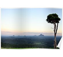 Glasshouse Mountains Poster