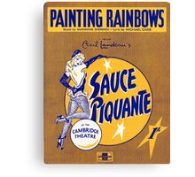 SAUCE PIQUANTE (vintage illustration) Canvas Print