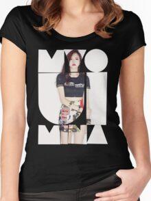 TWICE 'Myoui Mina' Typography Women's Fitted Scoop T-Shirt