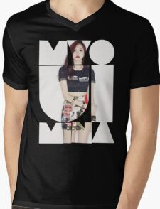 TWICE 'Myoui Mina' Typography Mens V-Neck T-Shirt