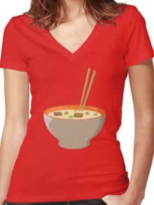 Chinese food Women's Fitted V-Neck T-Shirt
