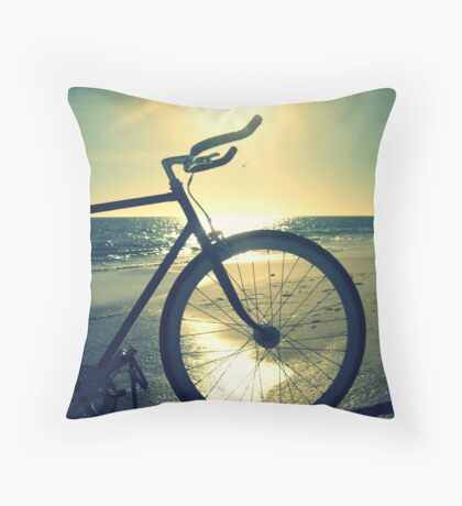 Fixie at Dusk Throw Pillow