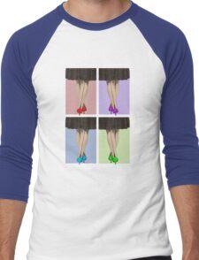 Vibrant Shoes Men's Baseball ¾ T-Shirt