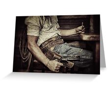 Dead man's hand Greeting Card