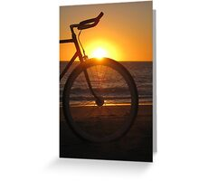 Fixie at Sunset Greeting Card