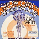 SHOW GIRL IN HOLLYWOOD (vintage illustration) by ART INSPIRED BY MUSIC