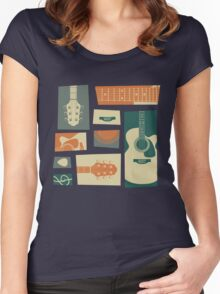 Guitar Collage Women's Fitted Scoop T-Shirt