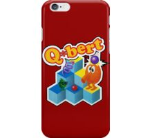 Q*Bert Logo iPhone Case/Skin