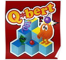 Q*Bert Logo Poster