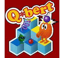 Q*Bert Logo Photographic Print