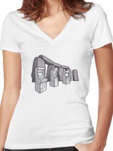 Arcade Henge Women's Fitted V-Neck T-Shirt