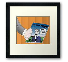 Caricature Options Binaires Mitt ROMNEY Framed Print