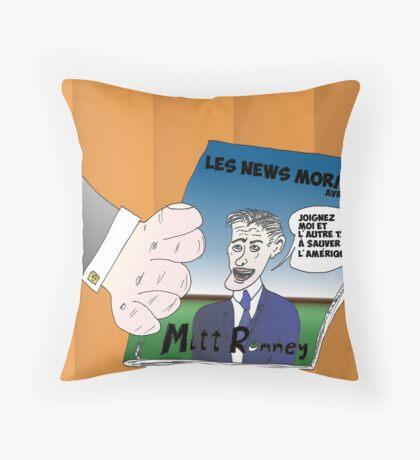 Caricature Options Binaires Mitt ROMNEY Throw Pillow